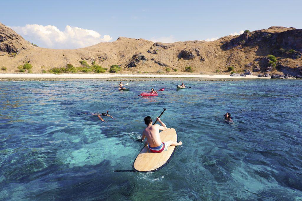 Stand up paddle, sea kayak, and snorkeling in Komodo