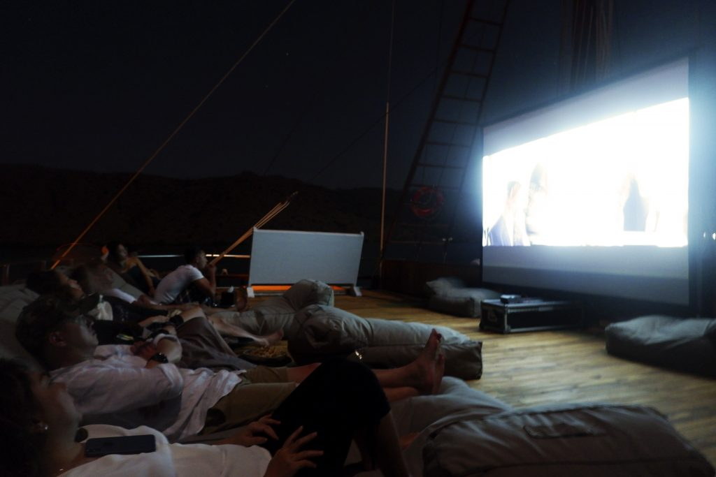 Prana's cinema under the stars
