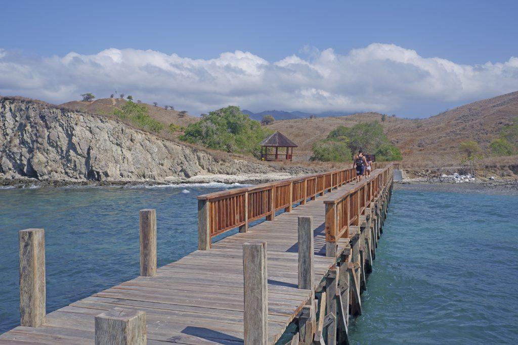 the jetty to Pink beach, Komodo national Park