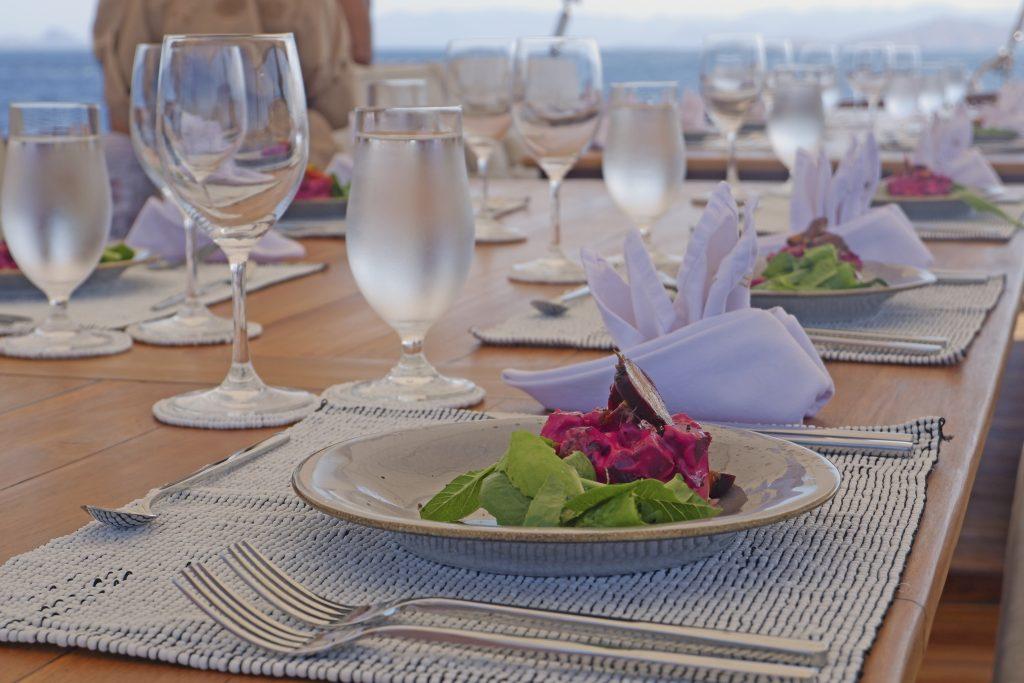 Lunch on board Prana