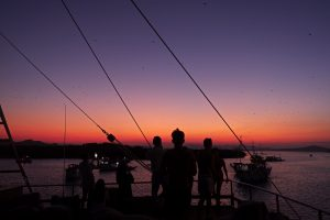 sunset in Kalong Island on Prana